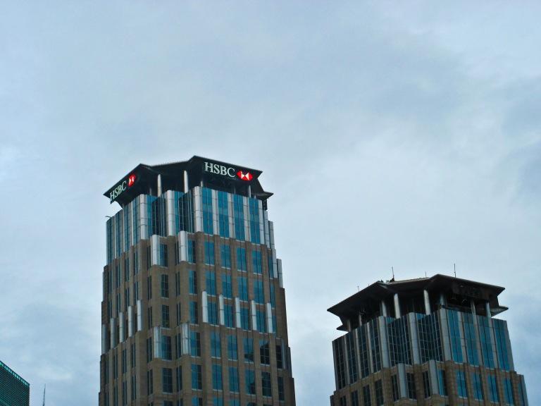 The Enterprise Center Tower along Ayala Avenue (taken from Dela Rosa Street)