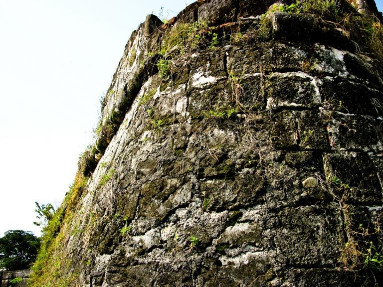 fort pilar corner wall - west side