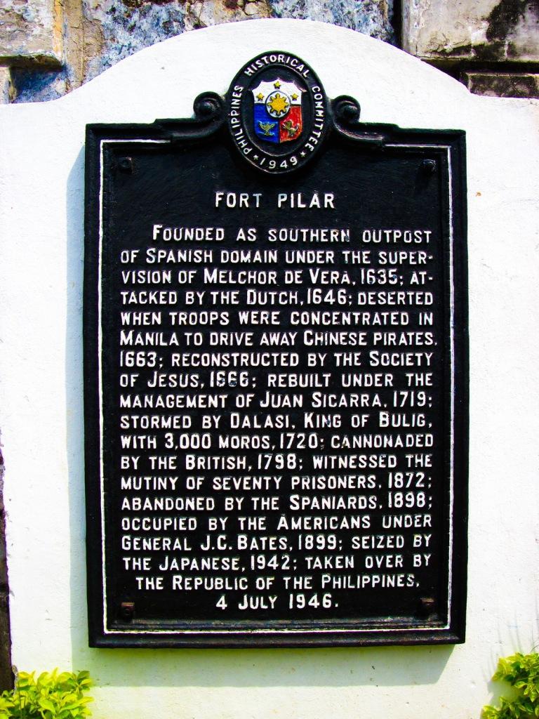 fort pilar marker