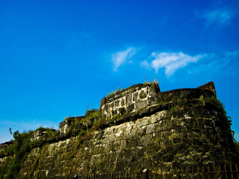 west wall of fort pilar