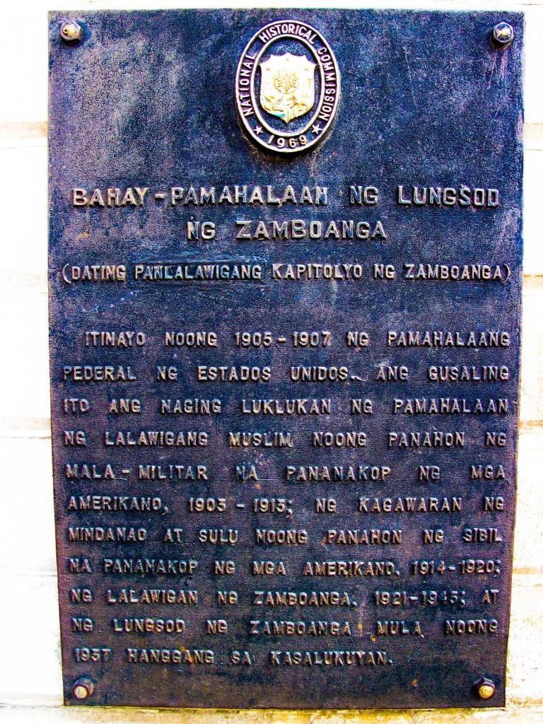 Zamboanga City Hall Historical Marker