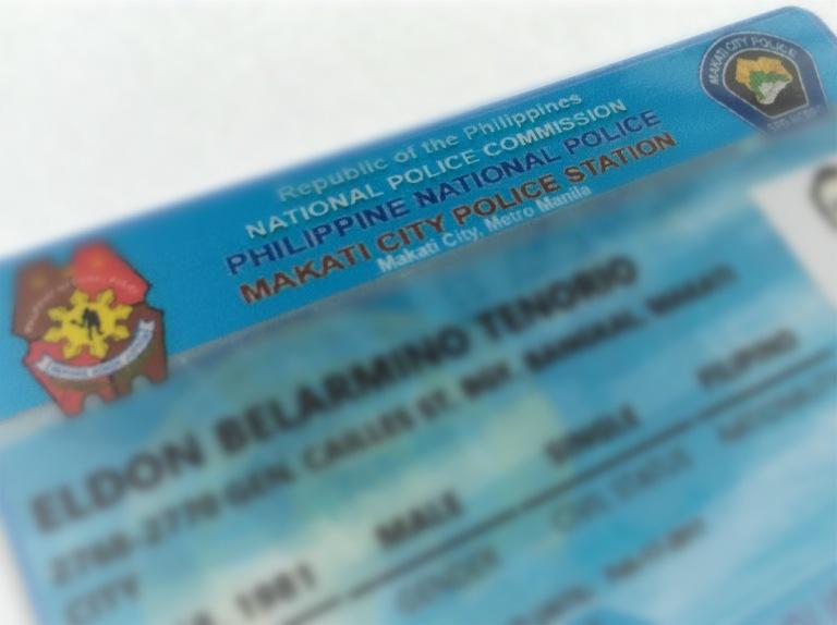Makati City Police Clearance ID