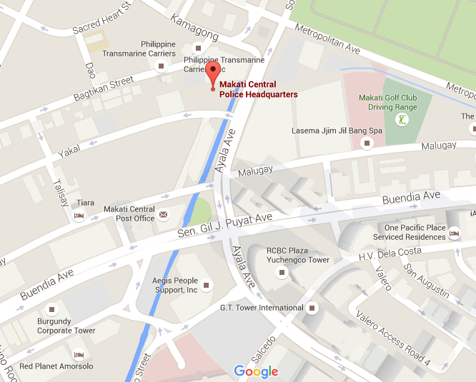 Makati City Police Station Map