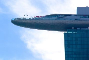The Skypark as seen from the Merlion Park